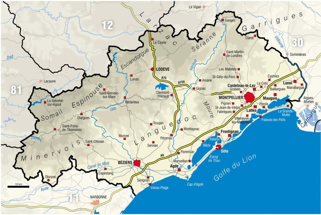 Carte de l'Hérault - Zone tendue immobilier